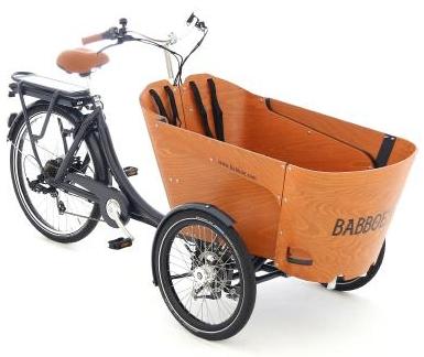 Babboe Lastenfahrrad mit Elektromotor Carve-E in einem einzigartigen Design