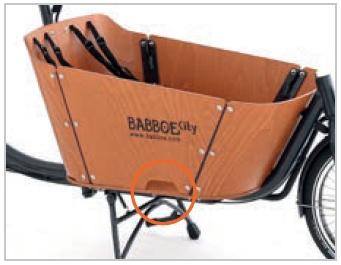 Babboe Lastenfahrrad mit Elektromotor City-E mit Einstieghilfe für Kinder