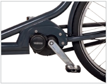 Babboe Lastenfahrrad mit Elektromotor City Mountain leistungsstarker Yamaha Mittelmotor