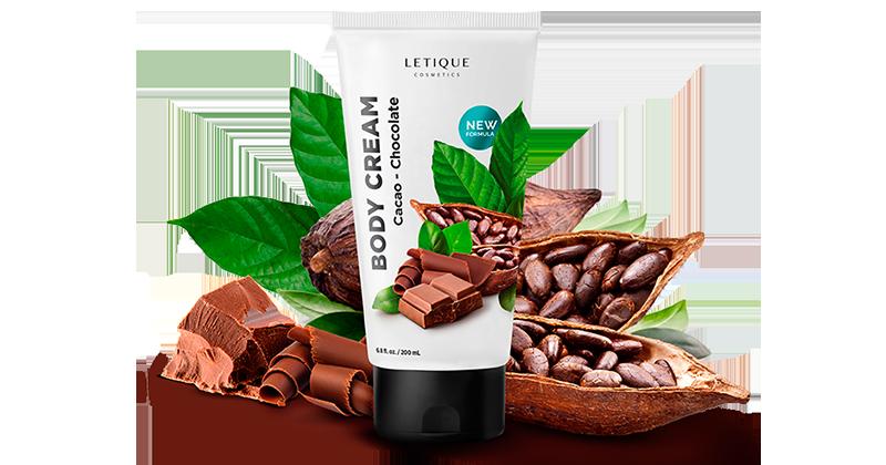 Body Cream Cacao Chocolate - Hautpflege Produkt von Letique Cosmetics