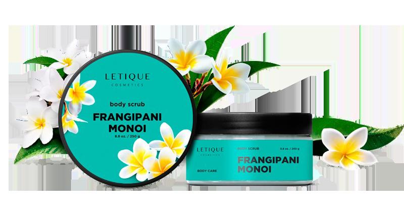 Body Scrub Frangipani Monoi - Letique Cosmetics Körperpeeling Produkt Details