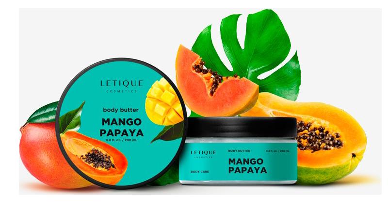 Bodycream Butter Mango-Papaya - Hautpflege Produkt von Letique Cosmetics online kaufen