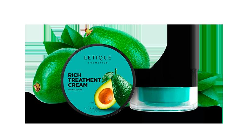 Facial Cream Rich Treatment - Letique Cosmetics Gesichtscreme mit Avocado