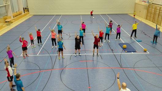 Training im Winter in der SeeSporthalle
