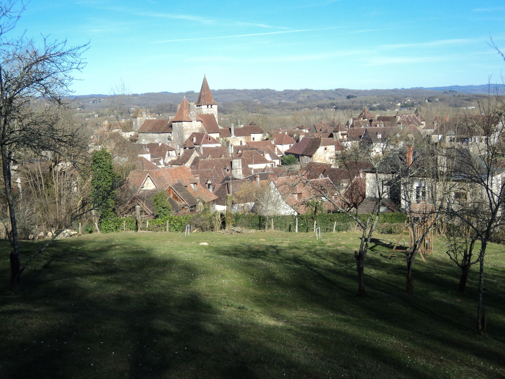 Vue sur le village depuis le parc