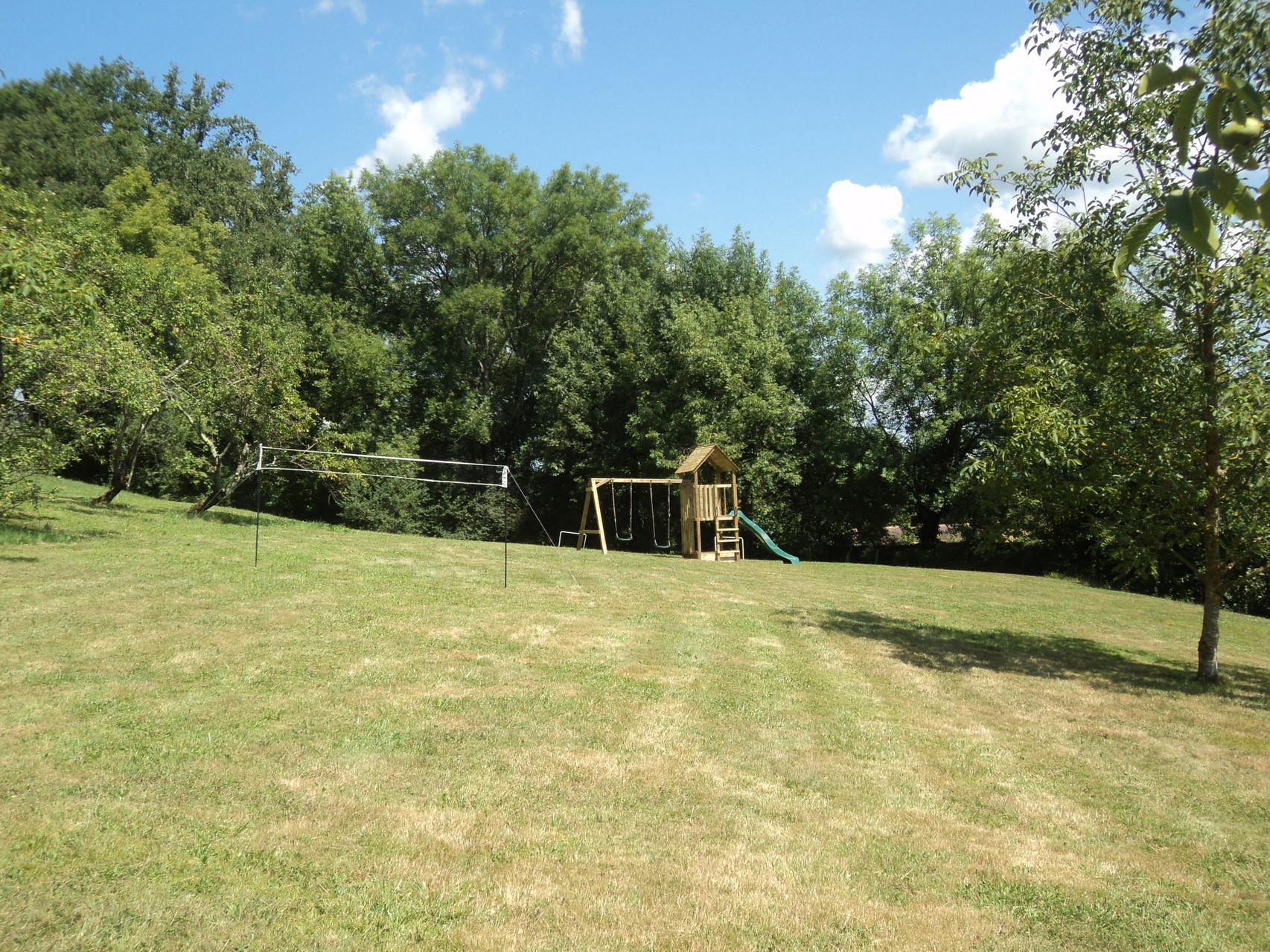 Aire de jeux terrain de badminton