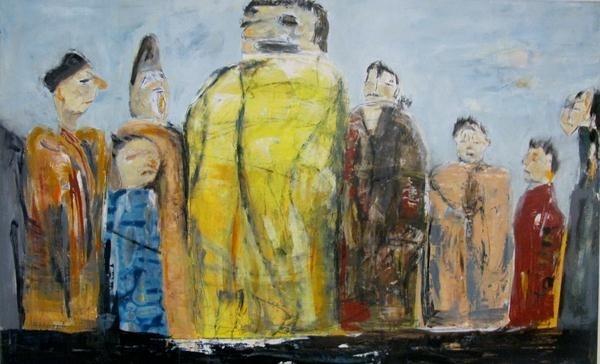 Der Patriarch Acryl auf Leinwand, 60 x 120 cm verkauft