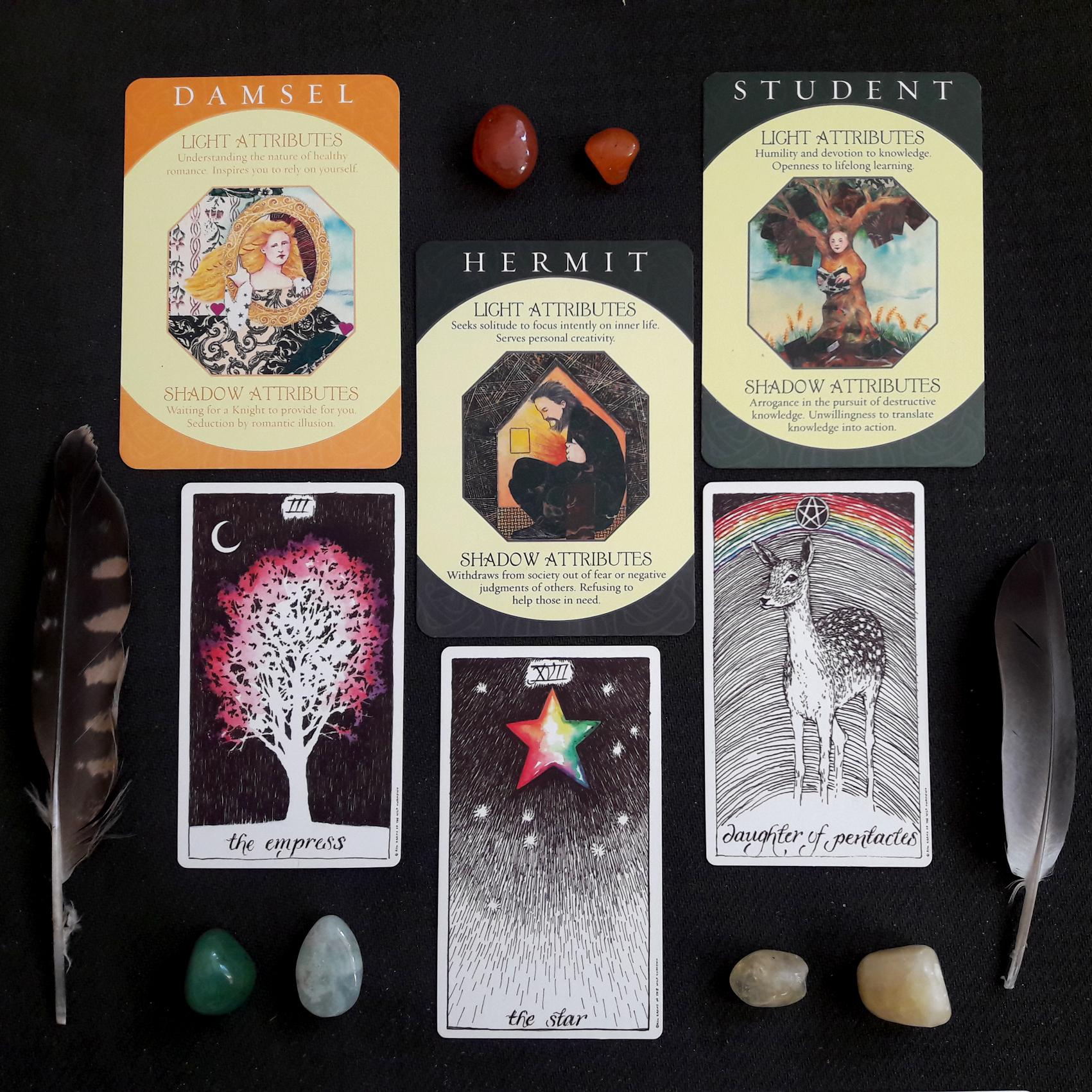 Archetype Cards (obere Reihe, untere Reihe: The Wild Unknown)