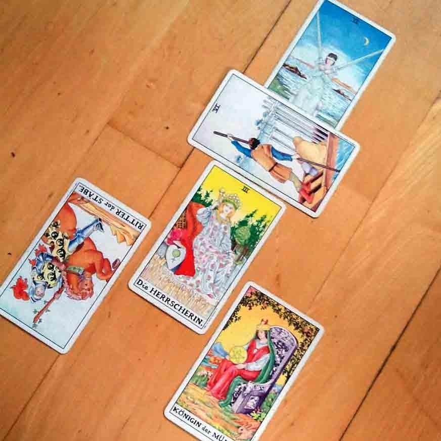 Tarot-Legung: Selbstvergebung.