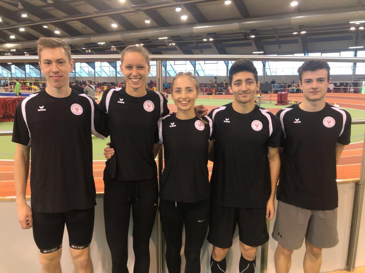 v.l.n.r.: Mathis Giesen, Jana Rokitta, Katharina Kezmann, Jan-Marcel Kezmann, Sven Opitz