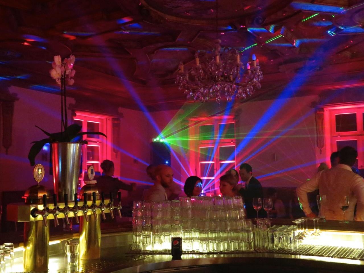 Hochzeit mit großer Lightshow