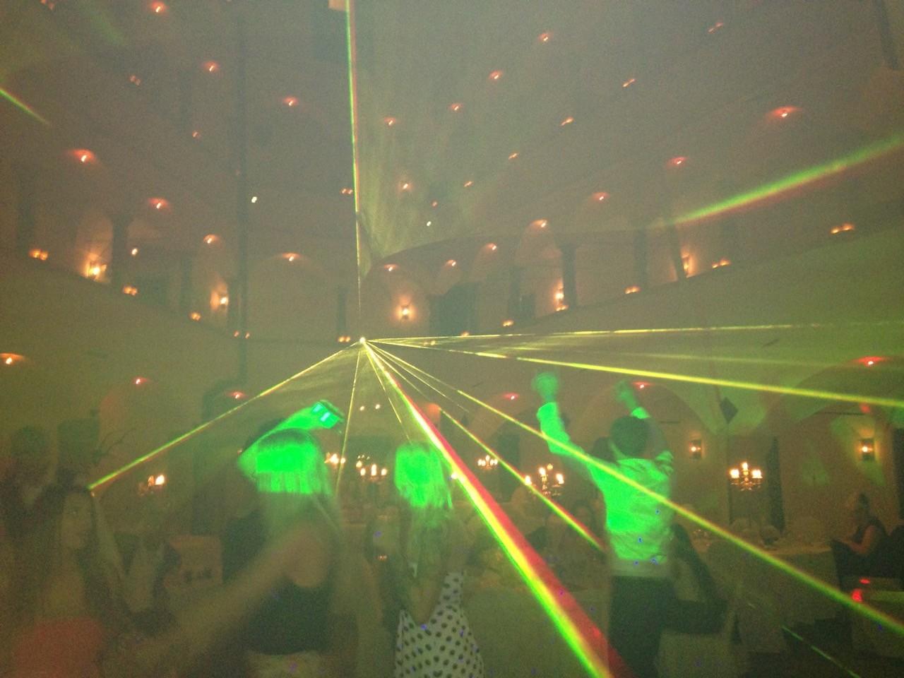 Hochzeit mit Lasershow