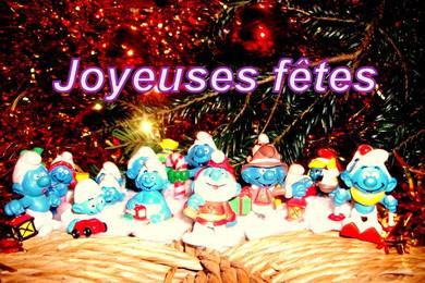 joyeuses fêtes des schtroumpfs