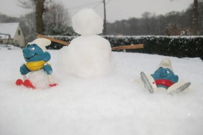Les schtroumpfs au sport d'hiver