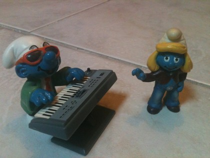 Schtroumpfs piano