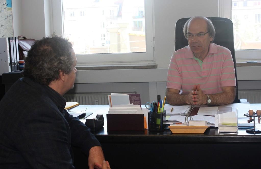 με τον συντονιστή εκπαίδευσης κύριο Μακρή