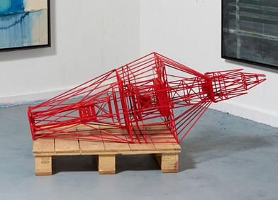 JAN MUCHE - Rote Spitze liegend, 2013 © the artist