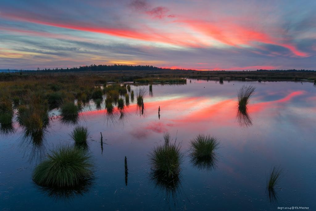 Nach Sonnenuntergang bot sich am Abend eine fast schon unwirkliche Farbintensität: ein toller Tagesabschluss (B185)