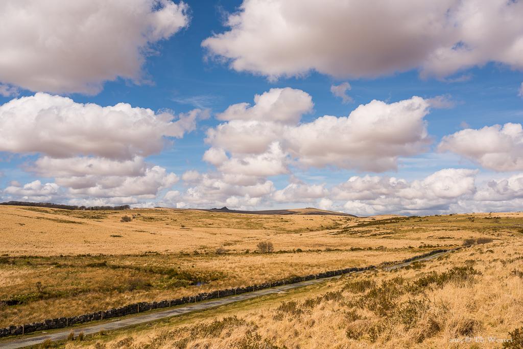 """Los geht es mit ein paar Eindrücken vom """"Dartmoor-Nationalpark"""", dessen Weite uns sehr beeindruckt hat (B509)"""
