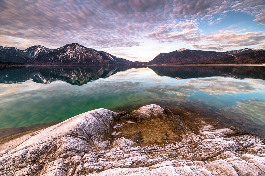 Was für ein Nachmittag am Walchensee – ein herrliches Wolkenbild… (B1573)