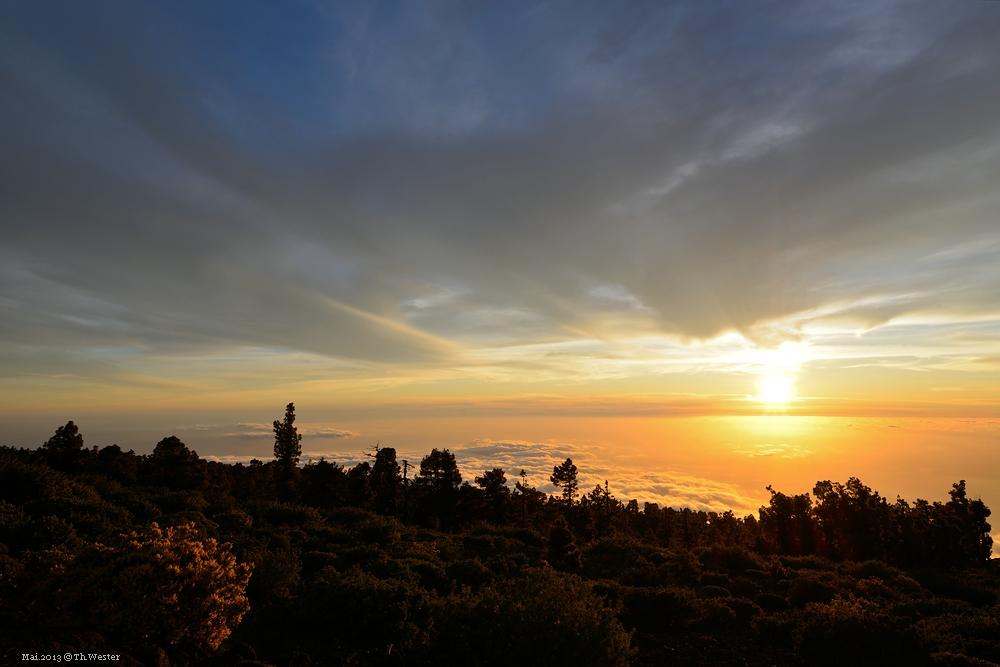 La Palma, Sundowner über den Wolken (B18)