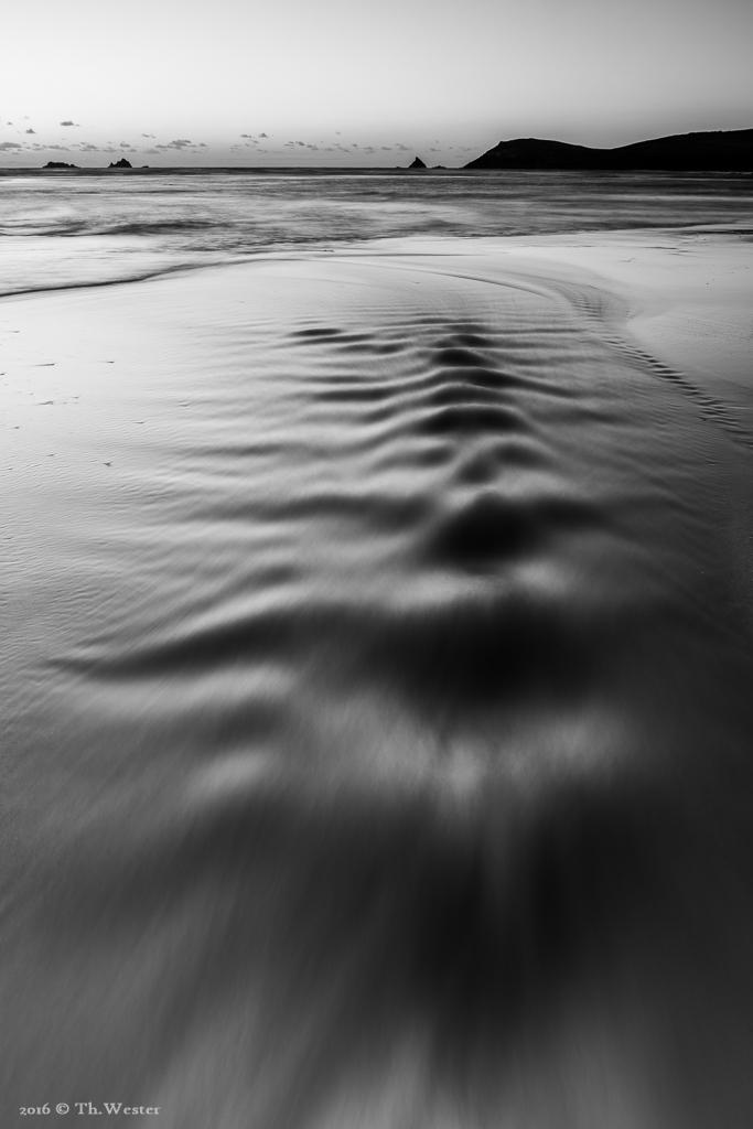 Ein abfließendes Pril an der Norwestküste Cornwalls (B591)