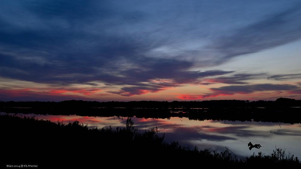 Ein intensiver Sonnenuntergang (B91)