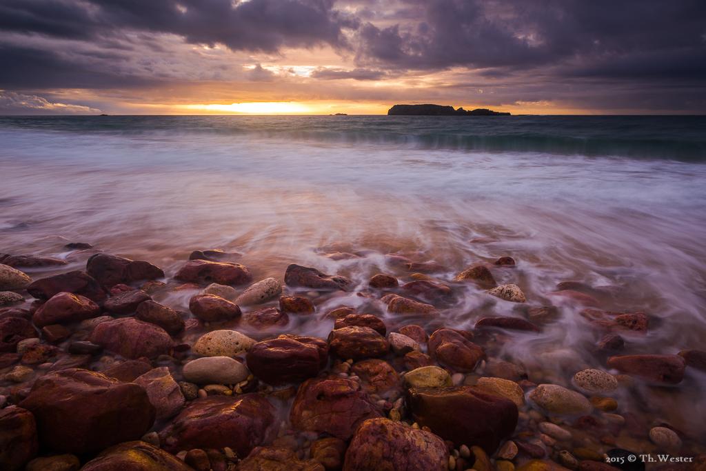 Morgens, an der Ostküste der Algarve (B366c)