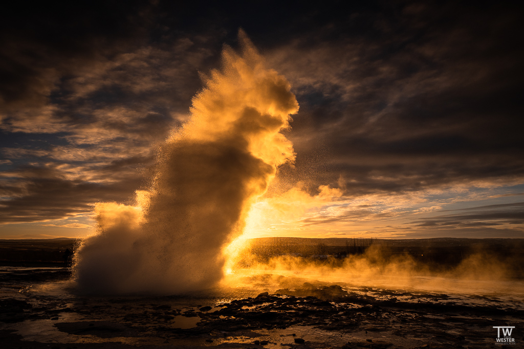 Geysir Strokkur in Island