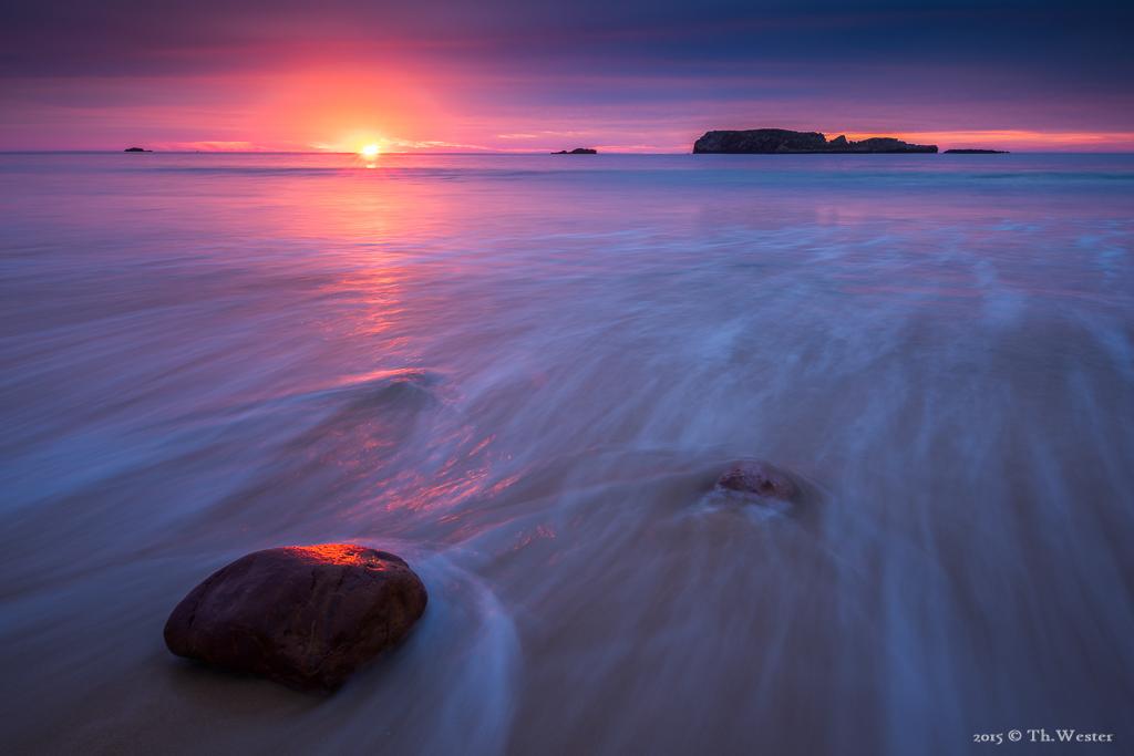 Ein wunderschönes Sonnenaufgang, wenige Minuten später (B394)
