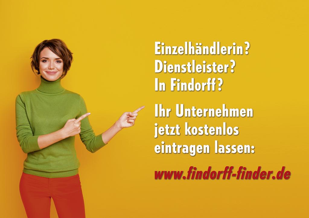 Bekannter werden! Ihr Eintrag im FINDORFF FINDER ist kostenlos.