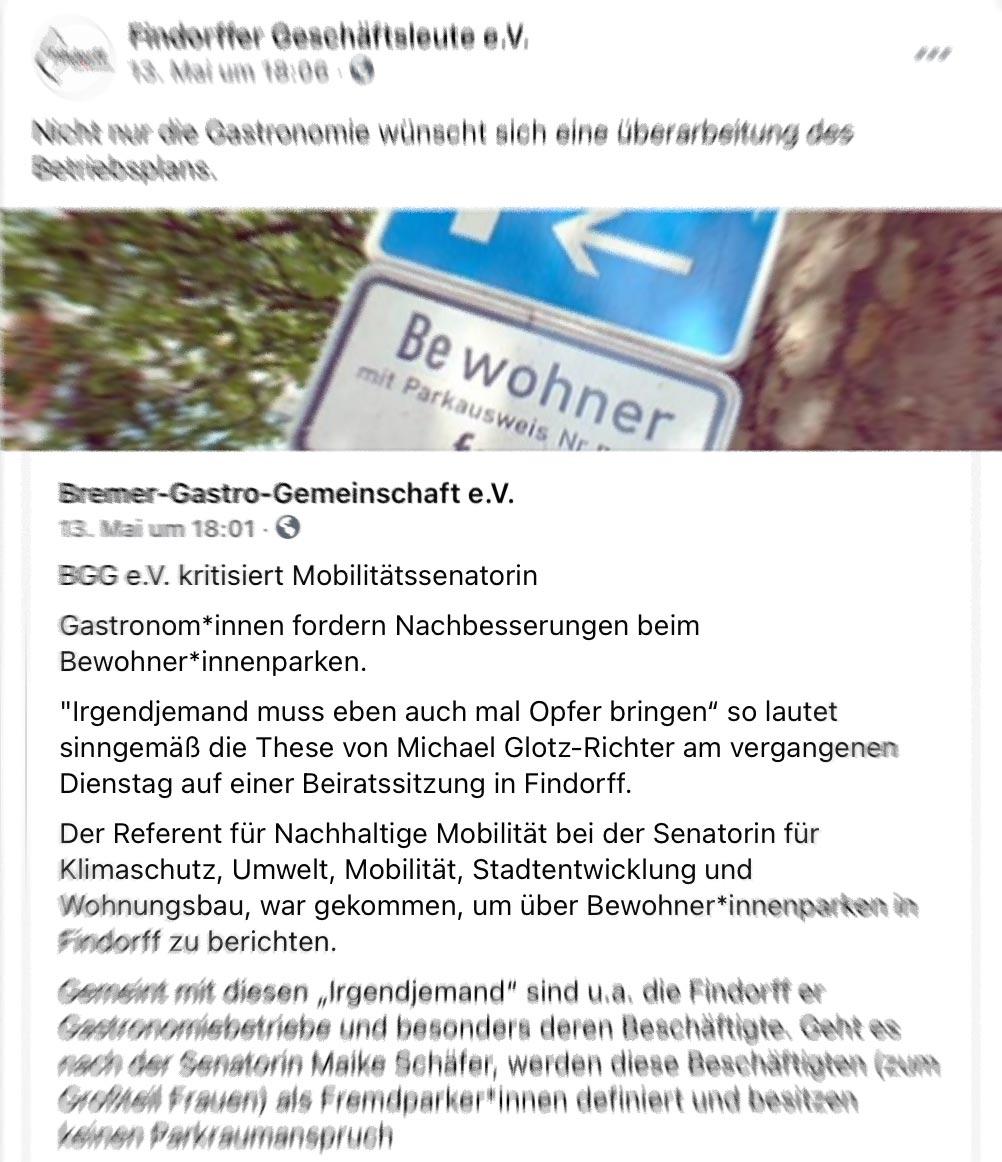 Bewohnerparken: Disput über angebliche Thesen und Aussagen