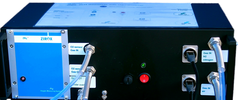 Gasmischer für Prüfkammern mit O2-Sensor