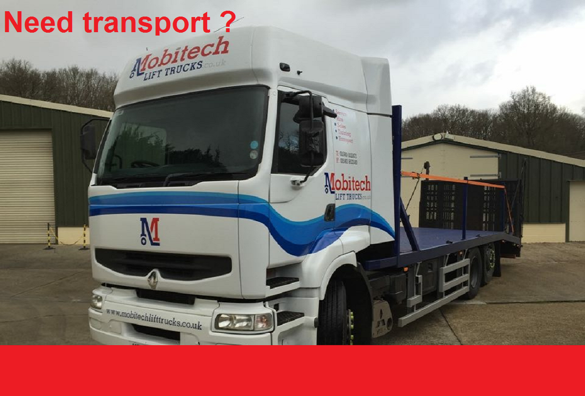 BOOK YOUR TRANSPORT + FORKLIFT WITH DRIVER HERE