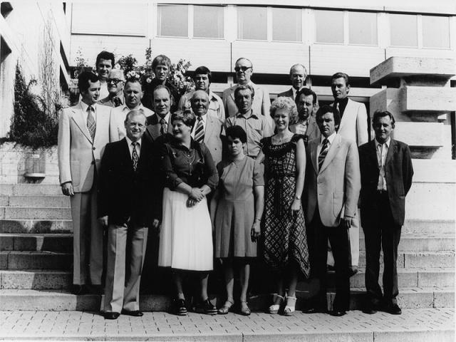 Gründungsmitglieder des Anglervereins Baunach 1968