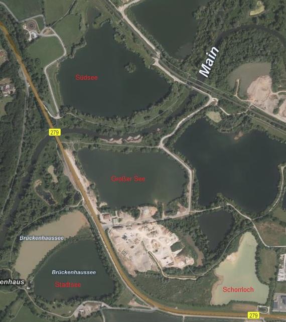 Luftbild von allen Seen