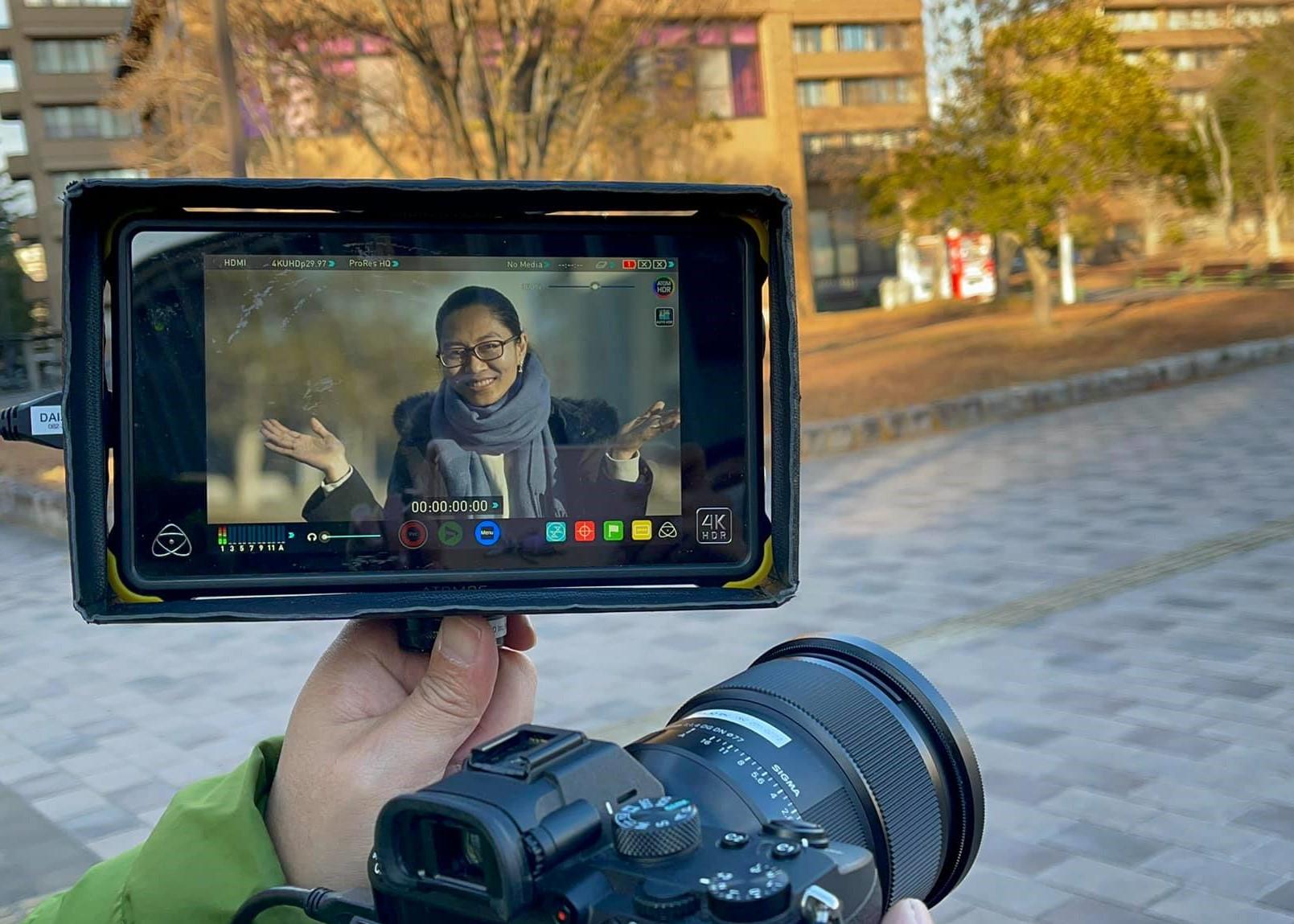 Shooting video project in Hiroshima University
