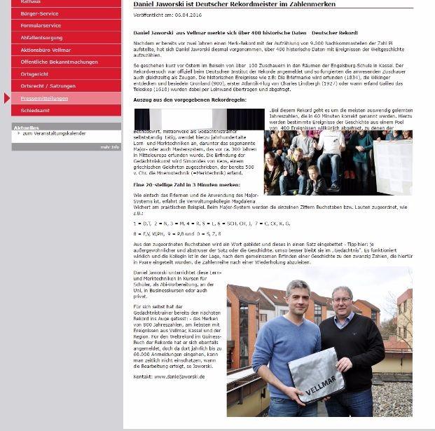 Vellmarer Wochenspiegel April/2016