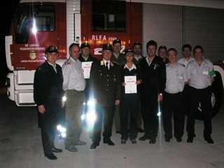 Die erfolgreichen Bewerbsteilnehmer beim FULA 2007.