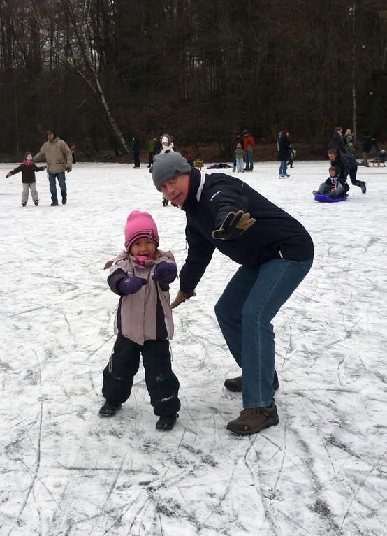Februar 2012 beim Eislaufen