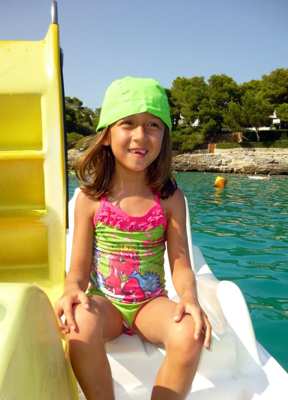 Juli 2015 auf Mallorca beim Tretboot fahren
