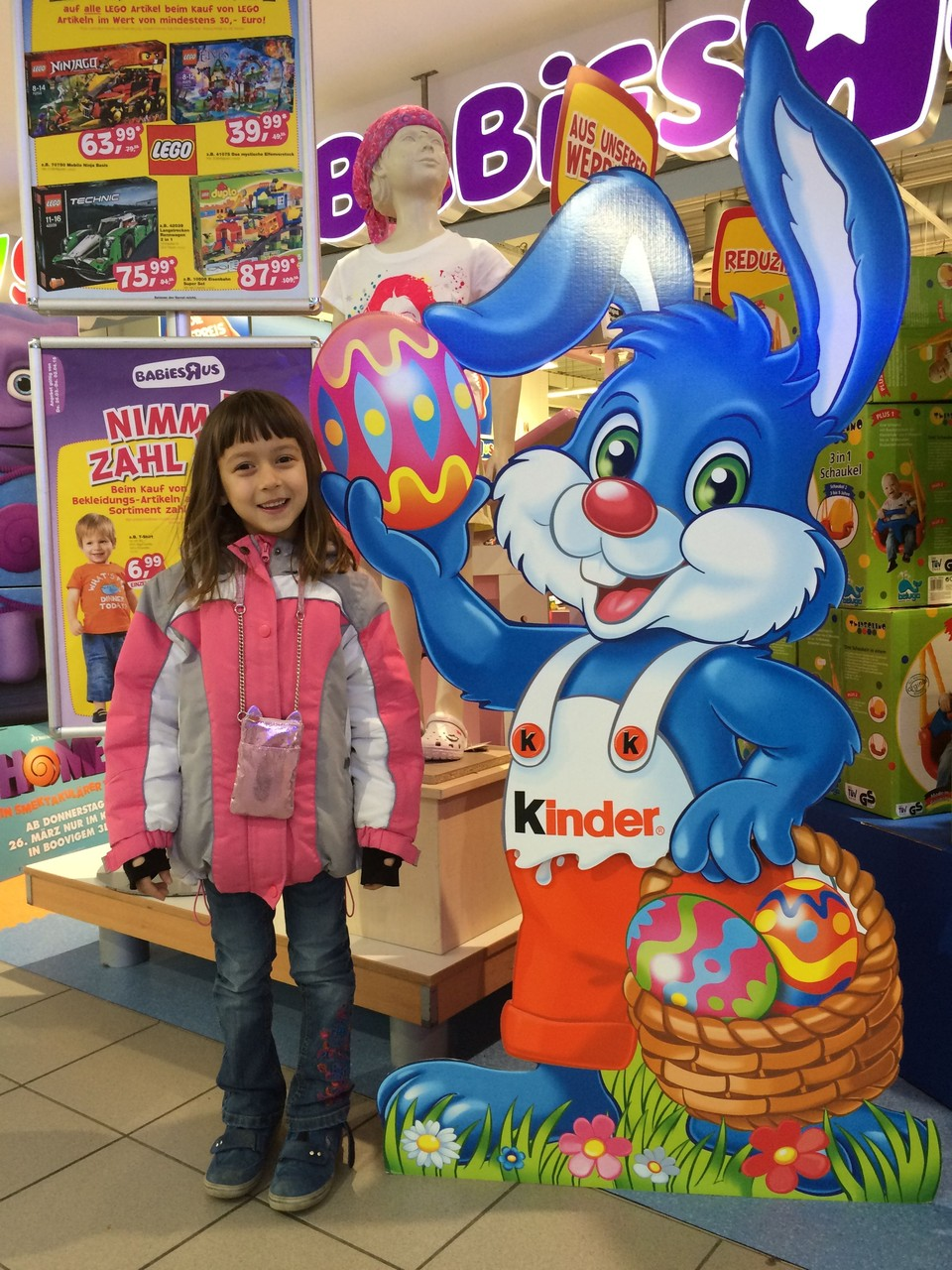 April 2015 mit dem Osterhasen