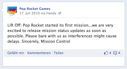 Die Pop Rakete startete ihre erste Mission