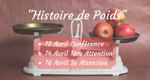 """Semaine """"Histoire de Poids"""" 12 au 16 AVril"""