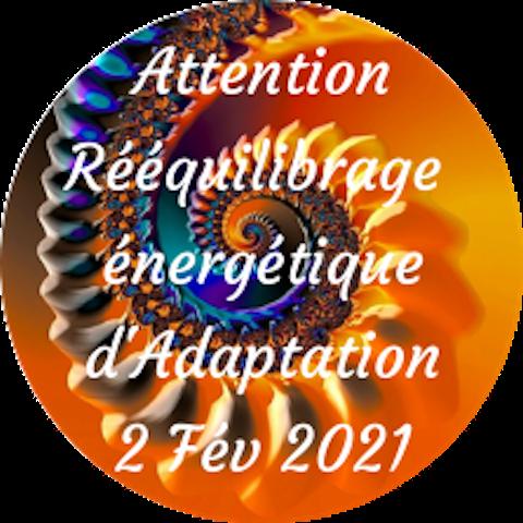 Attention Rééquilibrage énergétique (Période Rate) Mardi, 2 février