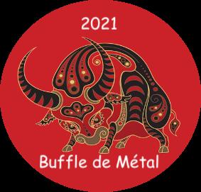 2021 Année du Buffle de Métal