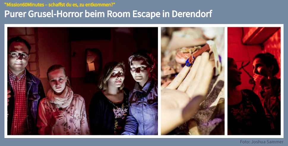 Purer Grusel-Horror beim Room Escape in Derendorf