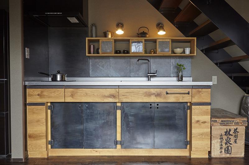 黒皮鉄のキッチン