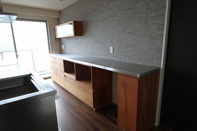 キッチン収納家具 背面収納 家電収納カウンター
