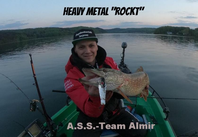 """Almir """"Sorpe Fishing"""" mit schönen Hecht auf Blinker am Sorpesee. Petri Heil Almir"""